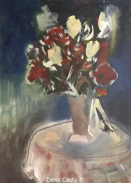 """""""Vase blanc et rouge"""""""